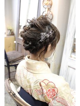 【kimi】着物編み込みアレンジヘアセット