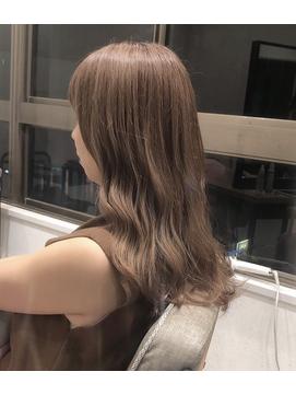 【myonsil】透明感赤味なしモカベージュカラー