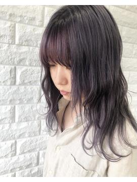 【ブリーチ歴あり】前髪インナーカラー×ピンク×ピンク