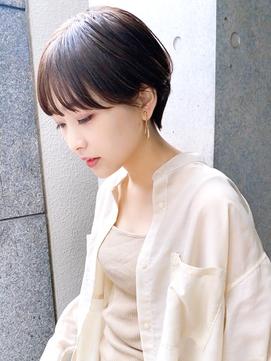 【December】大人かわいい髪 前髪あり 黒髪マッシュショート♪