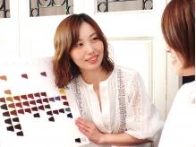 《茨木》女性Stylistのみ☆地肌をいたわる【Lani】のカラー♪ミネラル水を使用し、カラー剤から頭皮を保護