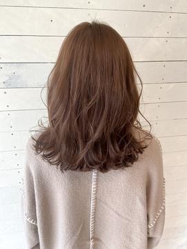【LUNON fieju】胸上のセミロングでも外ハネが可愛い!!