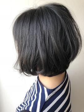 [OCEAN Hair&Life]毛先ゆるパーマ×黒髪×大人ボブ☆