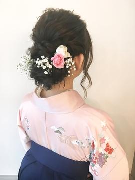 卒業式 ヘアセット 横浜 袴着付 生花 12