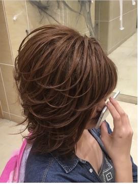 サイド流しの盛り髪アップ