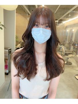 シースルーバング/シースルー前髪/韓国ヘア/ヨシンモリヘア