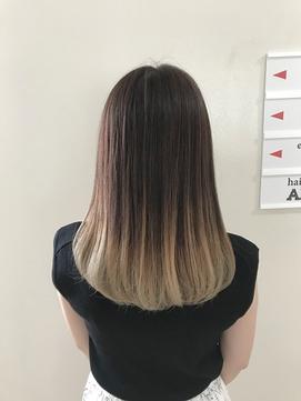 【ANAZA hair/難波】グレージュ&バレイヤージュ
