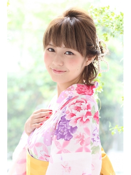 【個室】浴衣着付&ヘアセット ¥9,720→¥6,480 個室料金無料