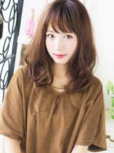 【ヘアジュレドゥ 古居】 大人可愛くエアリー女子セミディ 編み込み.34