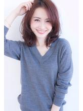 ひし形ミディアム(バレイヤージュデジタルパーマロブ デジタルパーマ.55