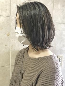 【三ツ井】レイヤーボブ ウルフカット グレージュアッシュ外ハネ