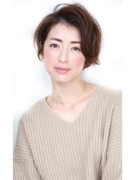 Soleil菊地/クールショート着物ボブルフピンクベージュ