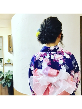 【浴衣レンタル】ガーリーな帯結びの浴衣スタイル♪ 側面写真