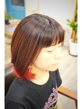 アニ髪個性出すなら『インナーレッド』