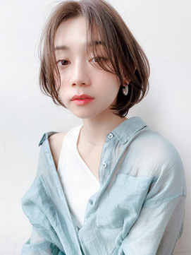 [K-two青山]ほつれ前髪でモテ愛されショートボブ[表参道]