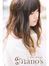 《mano's》 セミロング巻髪とろみカール 1.4