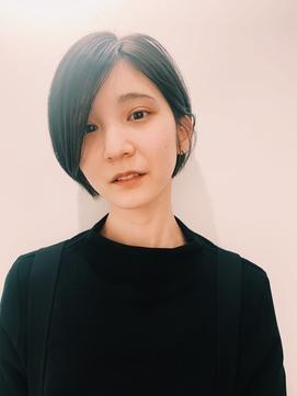 前髪なしサイドパートショート髪質改善【神保町/九段下】
