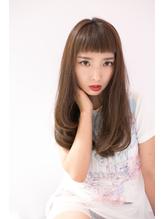 【shiomi H】ぱっつんバング ワンカールロング ヘアアイロン.22