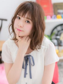 【macaron】大人かわいいひし形シルエットボブ☆