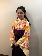袴用ヘアセット.10