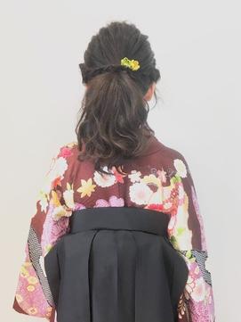 [hurakokotrico荻窪]和泉美佳 卒業式 揺れ髪(着物・袴スタイル)