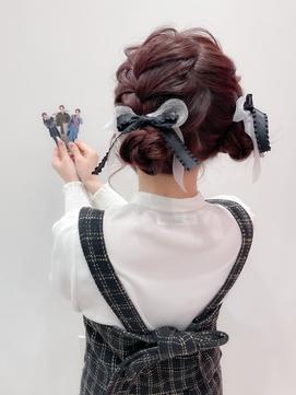 #お団子ヘア#ツインテール#コンサートヘア#量産型【momona】