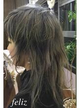 ネオウルフカットとハイライト&ローライトで海外Hair☆ シルバー.53