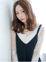 センターパート×おくれ毛バング☆大人セミディ くびれカール.17