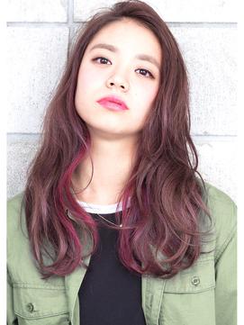 『 ワンポイントベリー × ラベンダー 』外国人風 semi-long♪