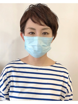 【L`atelier Content miho】ベリーショートくせ毛風×マスク美人
