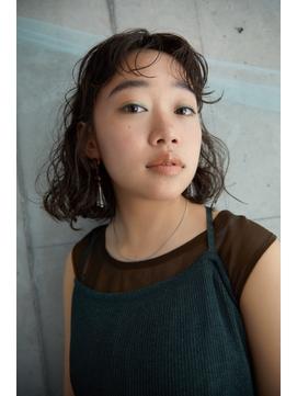 【utuwa】濡れ髪×カーリーヘア×グラボブ