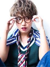 ラフ&カジュアル外国人風マッシュショート メガネ.2