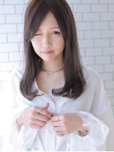 ☆センターパートが上品さを演出するセミロングヘア☆.56