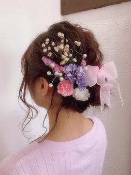 hair set × flower