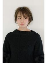 【mod's hair高崎】大人かわいい☆小顔ショートボブ ベージュ.0