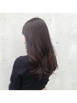 小顔カット×艶暗髪×セミウェットウェーブ