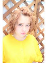 ☆春感たっぷりのカーリーボブ、☆.7