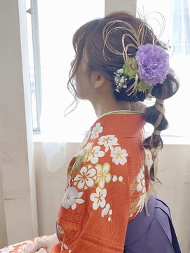 【コトノハ】かわいい着物ヘア 成人式 卒業式 振袖 袴ヘアー 3