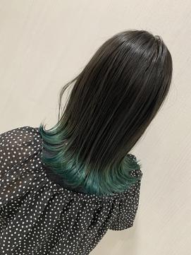 【REJOICE hair EN】カーキグレー×サワーグリーン 担当AKIRA