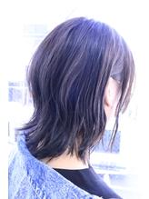 黒髪暗髪アッシュ小顔ブルージュグレージュミディアム.32