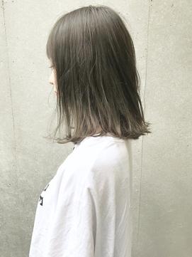 【SHUN】クラシカルセピアグレージュミディ #ワンレン