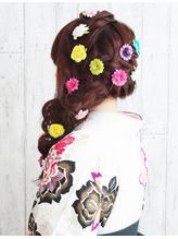 【卒業式・袴ヘア】髪長姫風ヘア .11