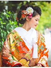 【花嫁ヘア・色打掛】和風モダンヘア☆夢館☆  ダンス.58