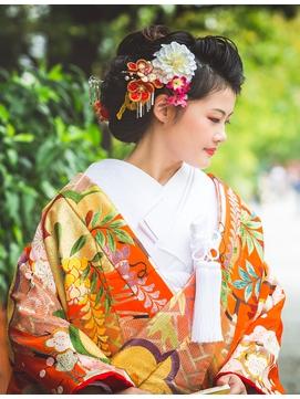 【花嫁ヘア・色打掛】和風モダンヘア☆夢館☆