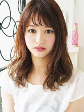 【ヘアジュレドゥ 花井】 Natural カワイイ☆大人女子セミディ
