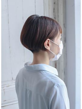 【マスク着用ドライカット】刈り上げボブ