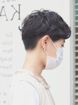 黒髪×おしゃれパーマヘア