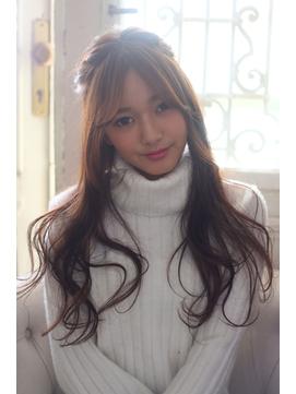Bella Yumie☆褒められ髪☆ロングヘアのハーフアップ