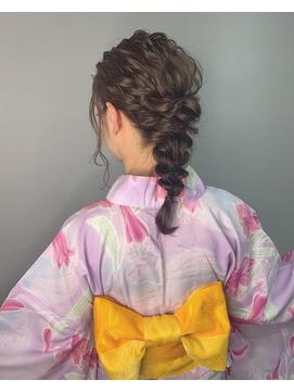 【代官山LAIDBACK】編みおろし浴衣ヘアアレンジ☆ヘアセット