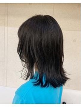 黒髪ウルフスタイル